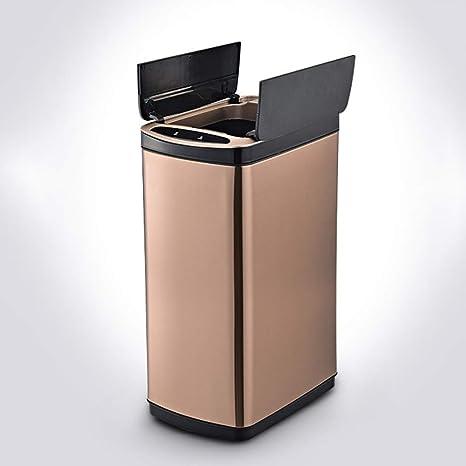 Amazon.com: FULANTE Smart Trash can, Metal Rectangular ...