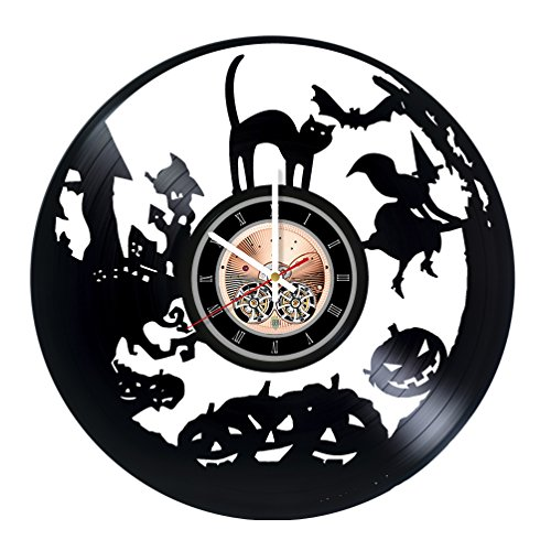 Helloween Vinyl Record Wall Clock - Living Room Wall Decor - Gift Ideas for Friends, Kids, Children –Dark Unique Art -
