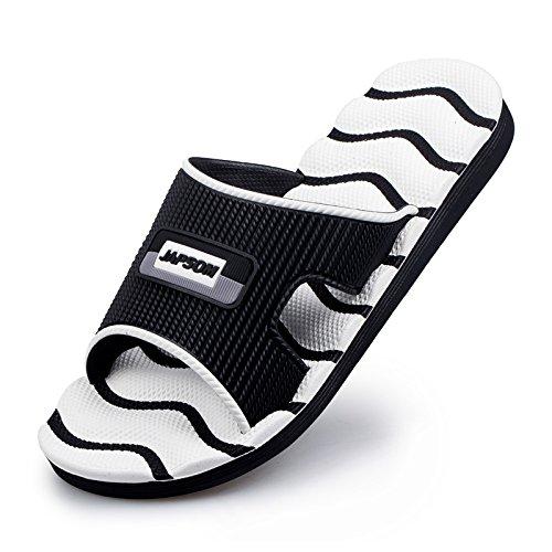AIHUWAI Sandalen Männer Sandalen Wort Hausschuhe Indoor Paare Hausschuhe Und Männer Sommer Strand Sandalen Und Hausschuhe Slips Dickboden Badezimmer Weiß a0d101