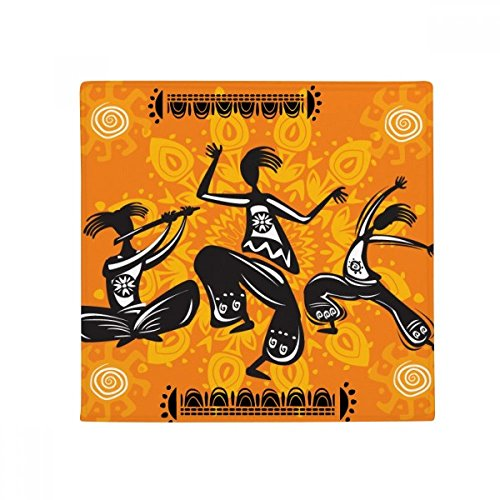 Dance People Mexico Totems Mexican Anti-slip Floor Pet Mat Square Home Kitchen Door 80cm Gift by DIYthinker