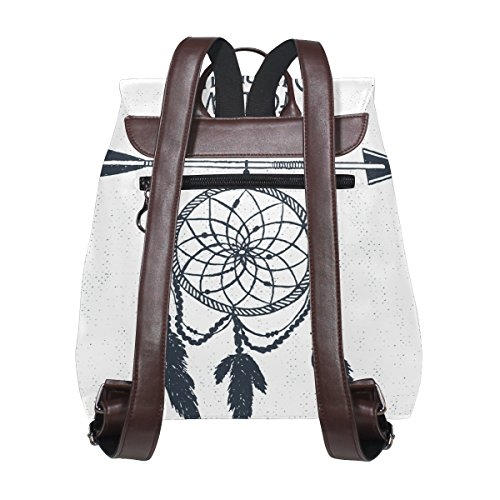 001 for Backpack Casual Feather Bag Ladies Women's Girls Catcher Pu Dream Purse Leather White School Multi Ty29 Bag Shoulder imobaby xBZFqH0wv