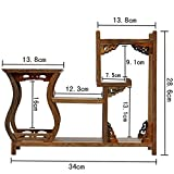 NWFashion Chinese Wooden Assemble Display Stand Home Decoration Curio Cabinets Shel (1)