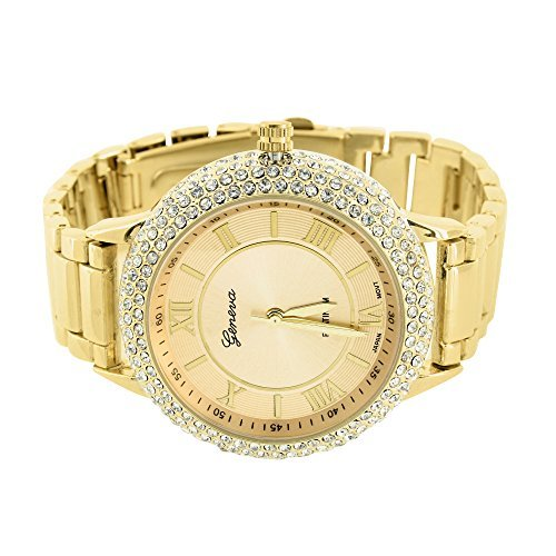 Mens 14k Gold Geneve Watch - 9