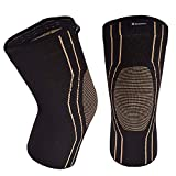 Thx4COPPER Sports Compression Knee Brace for Joint Pain and Arthritis Relief, Improved Circulation Support for Running, Jogging, Workout, Gym-Best Knee Sleeve-Single-Medium