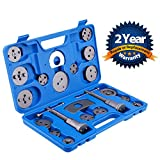 Orion Motor Tech 21-Piece Universal Disc Brake Caliper Piston Compressor Wind Back Repair Tool Kit for Cars
