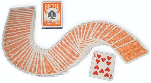 Bicycle Orange Rider Back Playing Cards