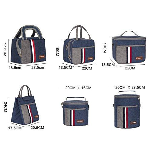 basong Borsa Termica Picnic Bag Borsa Porta pranzo borsa termica per lavoro scuola Picnic Campeggio