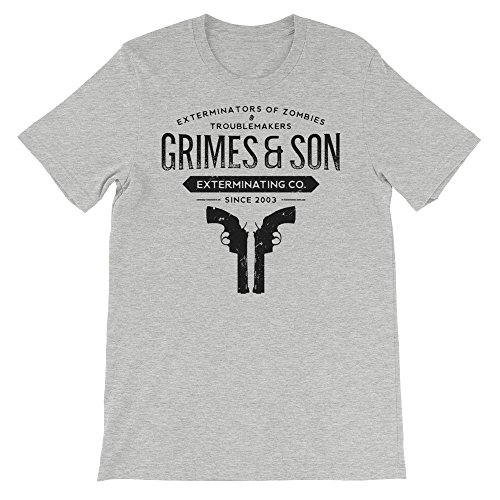 Price comparison product image Grimes and son zombie the walking dead t-shirt,  medium,  Gray,  Prnnt