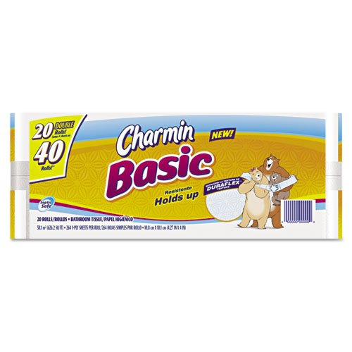Amazon.com: Charmin Basic Big Roll, One-Ply, White - Includes 20 ...