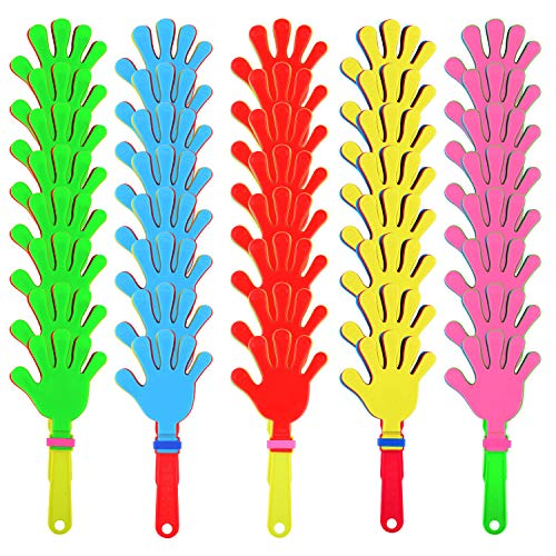 Sunshane 40 Pieces Plastic Hand Clappers Noise Makers Noisemaker Game Accessories for Fiesta Party Birthday Favors and Supplies, 7.5 -