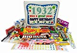 """Anyone who was born in 1932 will be turning 85 years old in 2017. If you're wondering what you'll give your special friend, send them this box of retro candy which reads """"1932 was a Great Year. Happy Birthday!"""" When they open the box they'll rediscov..."""