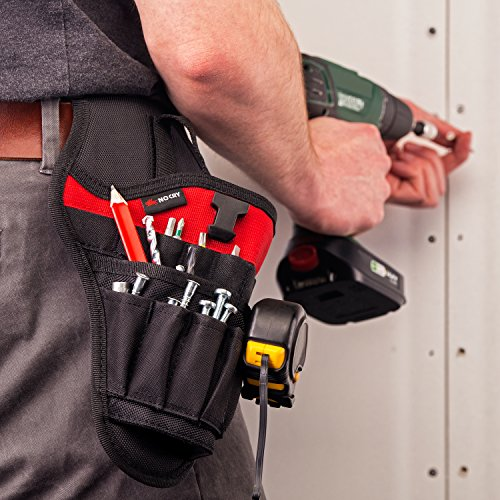 NoCry Fast Draw Drill Holster - Balanced Fit for Cordless Drills, Accessory Pockets and Open Loops for Tool and Bit Storage, Belt-Attachment by NoCry (Image #3)