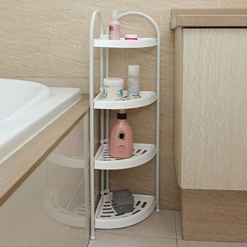 4 Tier Corner Caddy Rack Holder Shelf Shower Storage Bathroom Organizer W/Handle