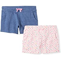 Spotted Zebra Girls' 2-Pack French Terry Knit Shorts