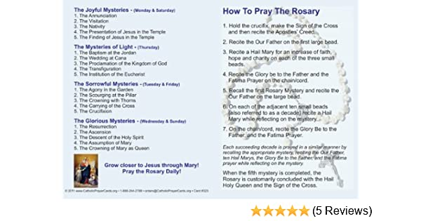photo regarding How to Pray the Rosary Printable Booklet referred to as How towards Pray the Rosary Holy Card Fold Around Pamphlet