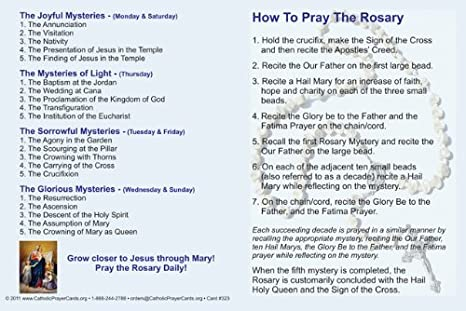 photo regarding How to Pray the Rosary for Kids Printable called How towards Pray the Rosary Holy Card Fold In excess of Pamphlet