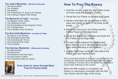 Amazon How To Pray The Rosary Holy Card Fold Over Pamphlet