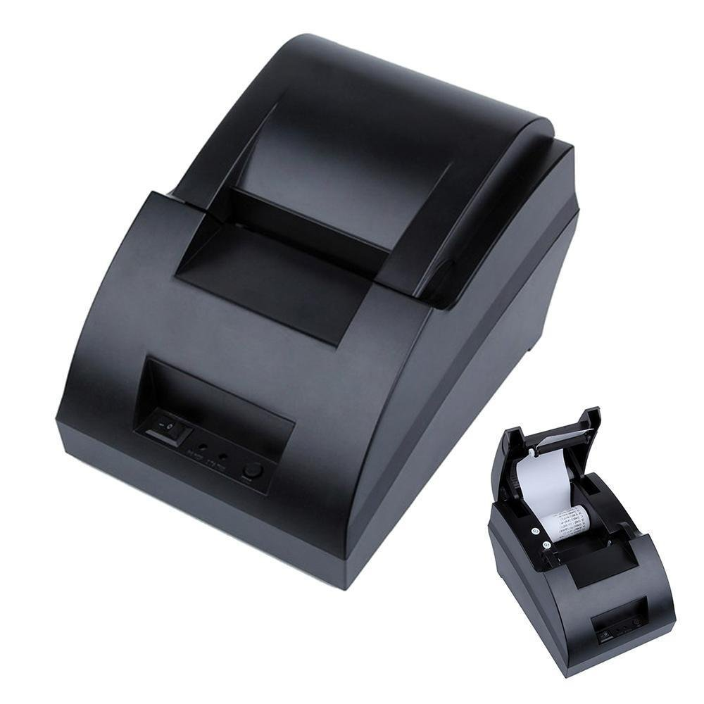 Lukuki USB Mini 58mm POS Thermal Dot Receipt Bill Printer Set Roll Paper Supermarket EU