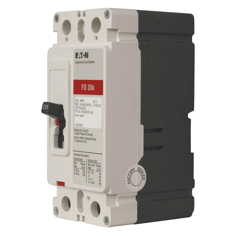 Eaton Series C Circuit Breaker FD2060 2 Pole 60 Amps 600 VAC//CA 250 VDC//CC