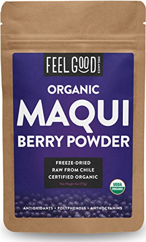 Organic Maqui Powder - 4oz Resealable Bag - 100% Raw From Chile - by Feel Good Organics (Amazon Pantry Yogurt)