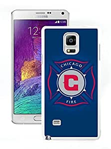 Fashionable And Antiskid Designed MLS Chicago Fire Samsung Galaxy Note 4 N910A N910T N910P N910V N910R4 Case Cover 05 White
