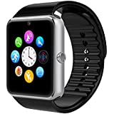 Smart Watch, Otium® One Bluetooth Smart Watch with SIM Card Slot for IOS iPhone, Android Samsung HTC Sony LG Smartphones Silver-Black