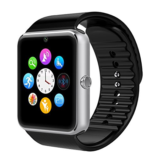 Smart Watch Otium One Bluetooth Smart Watch with SIM Card Slot and NFC for IOS iPhone Android Samsung HTC Sony LG Smartphones Silver-Black