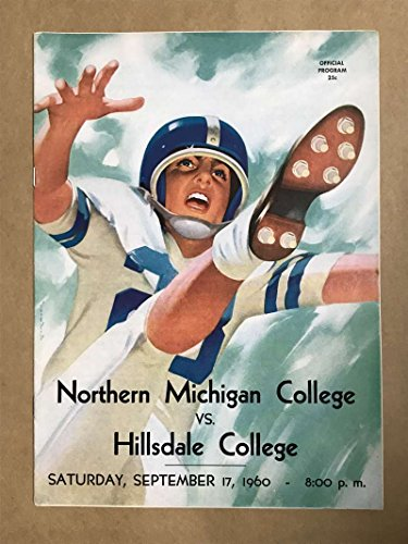 HILLSDALE COLLEGE NORTHERN MICHIGAN COLLEGE FOOTBALL PROGRAMS 1960 - Hillsdale Shops