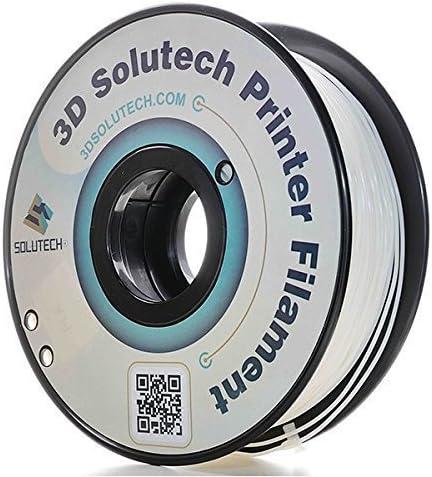 3d solutech Real blanco 3d impresora PLA filamento de 1,75 mm ...
