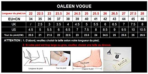 Haut 46 Sandales Bout 32 Chaussures OALEEN Bloc Femme Talon Eté Cheville Noir Pointu Escarpins Classique Bride qHntaw4vX