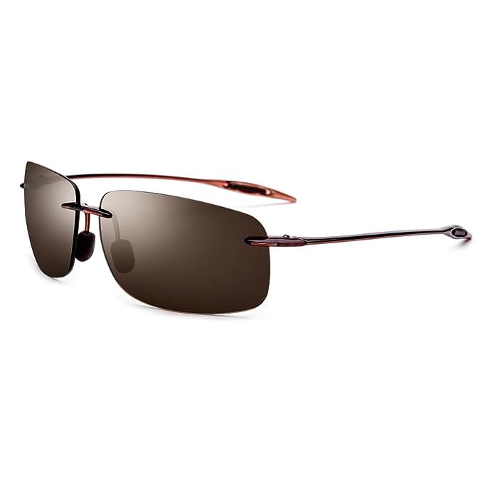 9f0a3c91d8 Sakuldes Gafas de Sol de Nylon de la Alta definición Gafas de Sol de los  Deportes al Aire Libre Gafas de Sol de los Hombres (Color : Borrow  Frame/Tea Lens): ...
