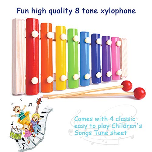 Toddler Musical Instruments- LEKETI 15 Types 22pcs Wooden Toddler Musical Percussion Instruments Toy Set for Kids Preschool Educational, Early Learning Musical Toys Set for Boys and Girls with Storage by LEKETI (Image #2)