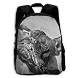 Pit Bull Kids Backpacks Double Shoulder Print School Bag Travel Daypack Gift