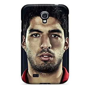 New Galaxy S4 Case Cover Casing(the Football Player Of Liverpool Luis Suarez On The Black Background)