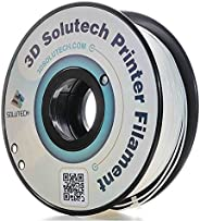 3D Solutech Real White 3D Printer PLA Filament 1.75MM Filament, Dimensional Accuracy +/- 0.03 mm, 2.2 LBS (1.0