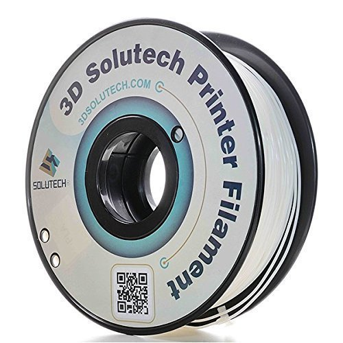 Amazon.com: 3D Solutech Real White 3D Printer PLA Filament 1.75MM Filament, Dimensional Accuracy +/- 0.03 mm, 2.2 LBS (1.0KG) - PLA175RWHT: Industrial & Scientific