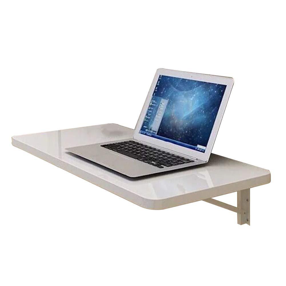 PENGFEI 折り畳みテーブルウォールマウント折りたたみ可能 ダイニングテーブル ポータブル コンピューターデスク 机 スペースを節約し、 木製パネル、 2サイズ (色 : 白, サイズ さいず : 60x35CM) B07GX5YQ9L 60x35CM|白 白 60x35CM