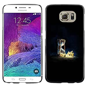 EJOY---Cubierta de la caja de protección la piel dura para el / Samsung Galaxy S6 / --Reloj de arena Castillo de arena Castillo de arena