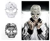 2345nuevo estilo veneciano Halloween Horror Máscara De Calavera cortado con láser metal con Clear Rhinestone Mascaras Halloween