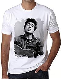 Bob Dylan Guitar, mens tshirts, picture tshirts men, gift tshirts