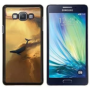 TECHCASE---Cubierta de la caja de protección para la piel dura ** Samsung Galaxy A7 ( A7000 ) ** --BALLENA CIELO ABSTRACTO
