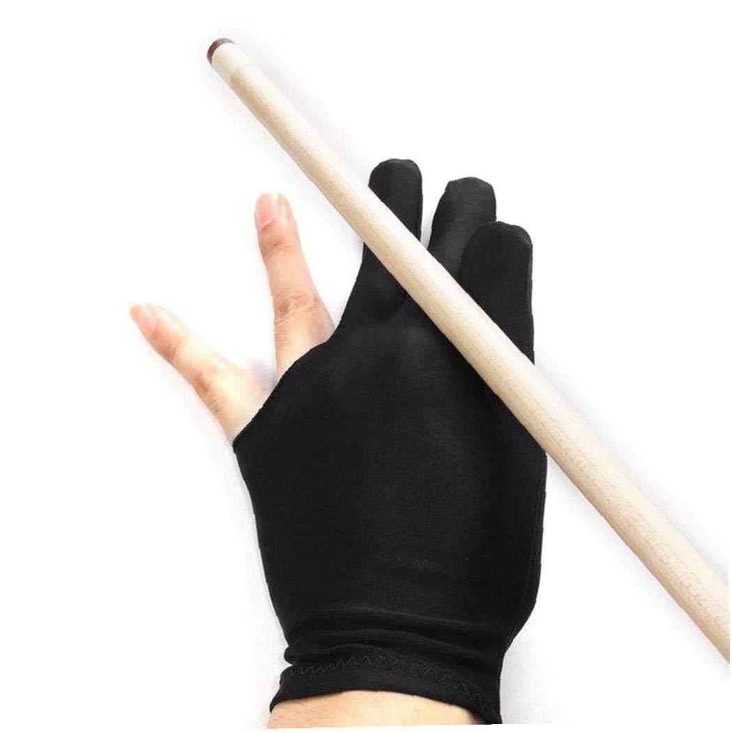 FEDSJUIHYG 3 Finger Billard Handschuh Snooker Cue Shooters Universal-Billard-handschuh Schwarz 3 Finger Billard-handschuh