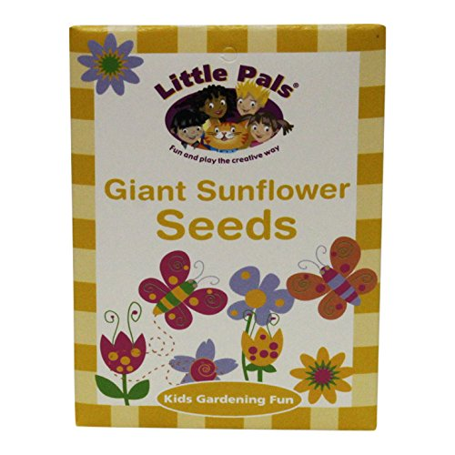 Little Pals Grow Your Own Sunflowers and Beanstalk Garden Set with Kids Garden Tools and Plant Markers