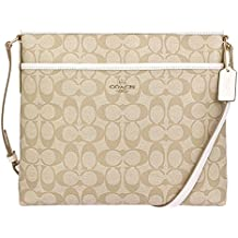 Coach Signature File Bag Crossbody Handbag Light Gold #F58297