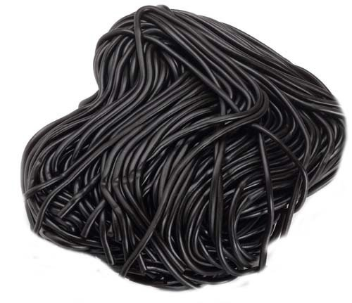 Black Licorice Laces - Gustaf's Imported Laces (Black, 1Lb)