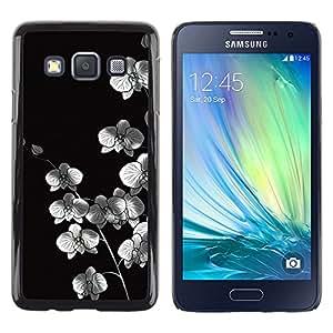 Stuss Case / Funda Carcasa protectora - Metallic White Flowers - Samsung Galaxy A3