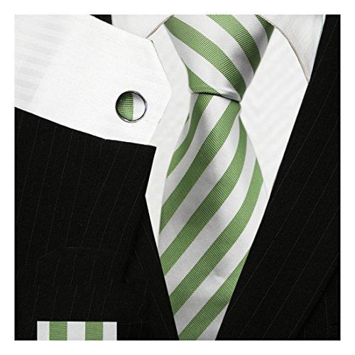 Bestow Olive Green & White Tie Sets | Neckties - Ties Discount Neckties