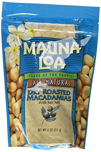 Mauna Loa Dry Roasted With Sea Salt Macadamia Nuts, 11-Ounce Package (Pack of 12) by Mauna Loa