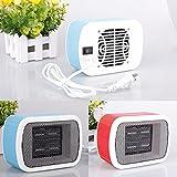Sale! Portable Electric Fan Heater, Household Desktop Heating Fan, 220V 500W US Plug Ceramic Space Winter Warm Heater Home Appliance (blue)