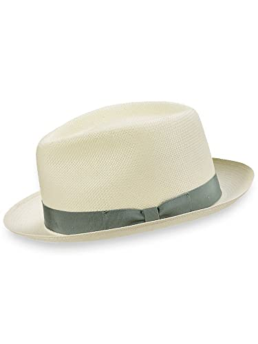 1940s Style Mens Hats Paul Fredrick Mens Straw Fedora  AT vintagedancer.com